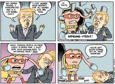 Cartoon: The Avenging Uterus vs. Donald Trump