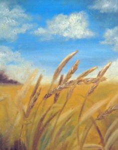 Wheat Field Painting  Fine Art Print  Wheat by LatreiaDesigns, $25.00: