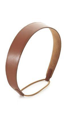 Cognac Jennifer Behr Thick Leather Headband