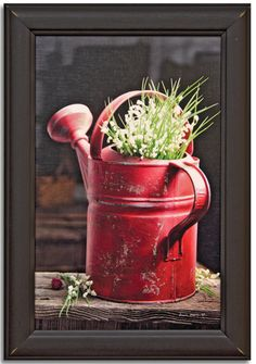 Love this beautiful Red Watering Can Framed Print by Irvin Hoover. Made in the USA! Watering Cans, Colour Red, Snail Mail, Print Artist, Basement Ideas, Country Living, Painting Inspiration, Planners, Journaling