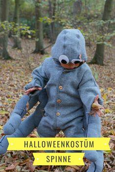 Nachhaltige Kostüme, die schnell gemacht sind. Spinne und Spinnennetz aus vorhandener Kleidung als Partnerkostüm. Mit Anleitung zum Nachmachen. Halloween oder Fasching können kommen. #Kostüm #halloween #fasching #nachhaltig #spinne Halloween Diy, Crochet Hats, German, Blog, Knit Gifts, Scarf Knit, Spider Webs, Deutsch, Tutorials