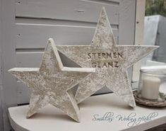 Wunderschöne Sterne aus Beton    smillaswohngefuehl.blogspot.ch/2014/11/diy-star-is-born-beton-sterne.html