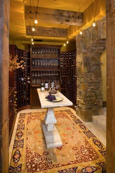 Wine Cellar and Tasting Room - designed by Locati Architects