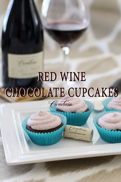 You'll be baking with a minimal amount of red wine (1 cup total). And depending on the type of wine you choose, it provides the cupcake with a savory flavor that pairs well with the chocolate and brings out a hint of sweetness in the frosting.