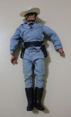 Lone Ranger 10 Action Figure The Lone Ranger Rides Again 1970s Marx Toys | 34 d