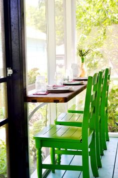 Screened-in porch with bar seating