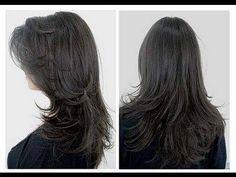 Como Cortar o Cabelo Sozinha Corte em Camadas / DIY How to Cut u Hair (+...