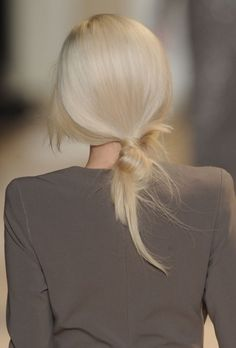 HAIR INSPIRATION BUNS TOP KNOTS BRAIDS MESSY TOUSLED PONYTAILS WRAP OMBRE BACKSTAGE HAIR RUNWAY IDEAS ELIE SAAB 8
