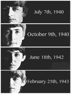 The Beatles Birthdays                                                <3 <3 <3 <3 <3 <3 <3 <3 <3 <3 <3 < 3< 3<3 <3 <3 <3 <3 <3 <3