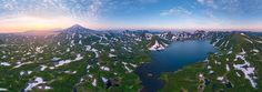 Kambalnoe Lake, Kamchatka, Russia • AirPano.com • 360° Aerial Panorama • 3D Virtual Tours Around the World