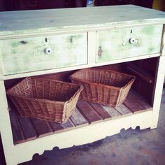 Repurposed Dresser Buffet table~ Console Table~ Entryway Table Rustic Shabby Chic Decor