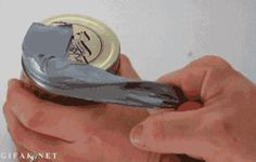 open a jar using duct tape gif The 55 Most Useful Life Hacks Ever