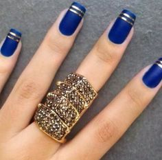 Pretty nails easy done with designed nail stripes