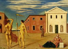 Giorgio de Chirico, Departure of the Argonauts Italian Painters, Italian Artist, Magritte, Museum Of Contemporary Art, Modern Art, Andy Warhol, Renoir, Amédéo Modigliani, Blood Art
