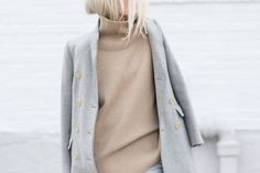figtny.com | outfit • 89 hair tucked in jumper beige grey