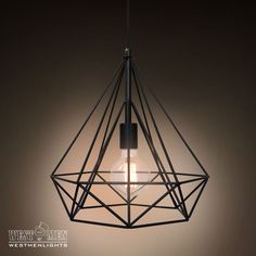 Westmenlights Diamond Geometric Industrial Chandelier Ceiling Pendant Lamp Black Lounge Hanging Pendant Light DIMON