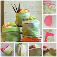 Sewn Baskets | 50 Clever DIY Ways To Organize Your Entire Life