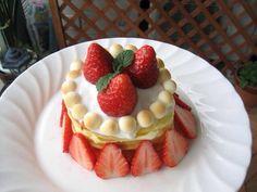 スイーツ:一歳のお誕生ケーキ