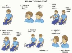 EMOTIONAL REGULATION. Kids learn how to scrunch up their body to help relax it.  Who knew?
