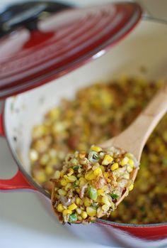 // bacon sweet corn hash