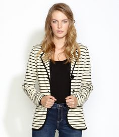 Karen Kane Stripe Knit Blazere