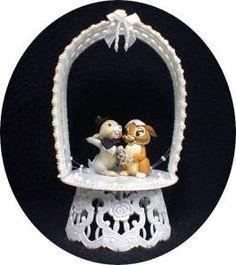 Wedding Cake Topper W/ Disney classic Thumper the Rabbit Bambi