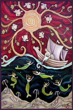 Hey, I found this really awesome Etsy listing at http://www.etsy.com/listing/61011887/sailor-and-mermaid-folk-art-valentine