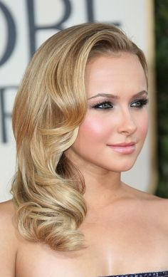 retro curls ... I want my hair like this for prom and my make up too!