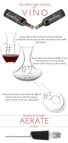 Alexandra Hedin: Decanting & Aerating Wine