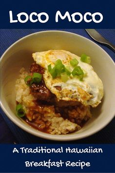 Nothing crazy about this loco moco recipe except the name! It's easy, it's filling, and with planned-leftover hamburgers and rice you can have it on the table in minutes.