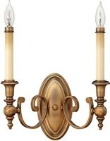Yorktown 2-Light Wall Sconce Brushed Bronze 3622BR