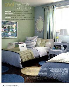 sarah richardson tween bedroom blue green