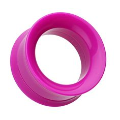 Sold as a Pair Pink Magnum CZ Press Fit Single Flared Ear Plug