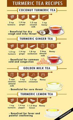 SIMPLE AND HEALTHY TURMERIC TEA RECIPES