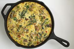 Winter Frittata: Full of veggies and eggs. Perfect any time of year (veggies can be swapped for whatever is in season).