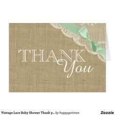 Vintage Lace Baby Shower Thank you Card