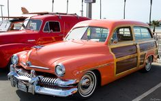 1951 Mercury Woodie - salmon color - fvl by Pat Durkin - Orange County, CA,