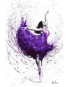 'Purple Rain Ballet' Art Board Print by Ashvin Harrison Ballerina Kunst, Framed Art Prints, Canvas Prints, Ballerina Painting, Dance Paintings, Ballet Art, Art Abstrait, Dance Pictures, Dance Photography