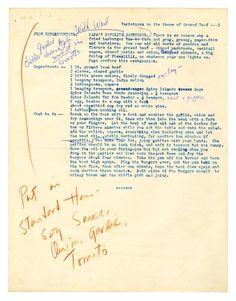 A Writer's Beef  Papa's Favorite Wild West Hamburger Ernest Hemingway's preferred hamburger recipe was a master work in it...