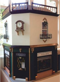 Miniature Victorian toy shop. Christel Famelaer dolls' house competition. (click to see interior)