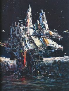martinlkennedy:  We are Alone by John Berkey 1983 (From his anthology John Berkey- Painted Space, published 1991)