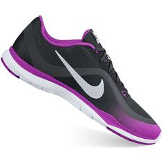 4e645325bcf0 These Flex Trainer women s athletic shoes from Nike pair a stable