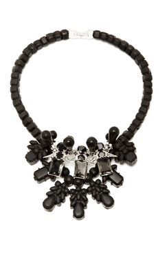 M'O Exclusive: Black & Silver Dagger Necklace by Ek Thongprasert - Moda Operandi