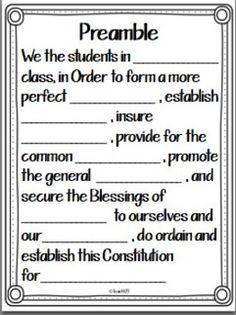 FREE Class Constitution activities