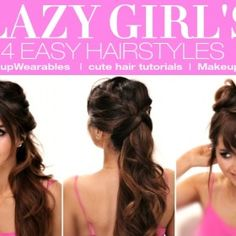 easy hairstyles for long hair tutorial - cute back to school hairstyle