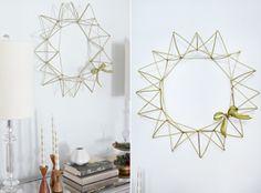 DIY 3D-Looking Himmeli Wreath | Shelterness