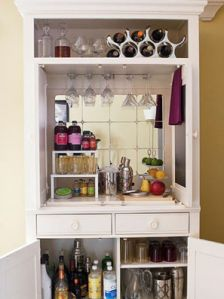 Must find old TV cabinet on Craigslist and turn it into a wet bar!
