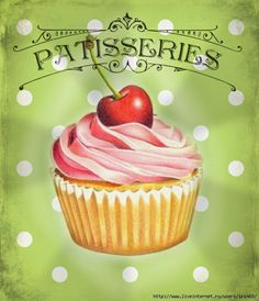 Discover recipes, home ideas, style inspiration and other ideas to try. Patisserie Design, Patisserie Paris, French Patisserie, Decoupage Vintage, Decoupage Paper, Kitchen Prints, Kitchen Art, Pastry Logo, Pastry Design