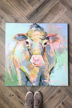 Brooke Ring is a southern artist working in Greenville, South Carolina. Brooke is known for painting colorful florals, coastal scenes, and figures. Cow Painting, Painting Flowers, Cow Drawing, Acrylic Painting Inspiration, Barn Animals, Ballerina Art, Abstract Animals, Cow Art, Animal Faces