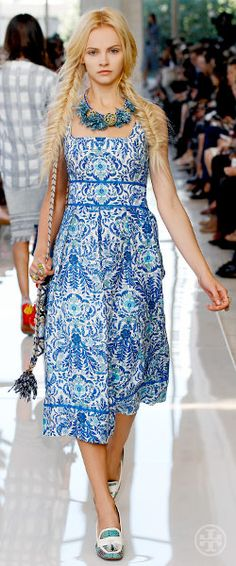 Pretty blue and white dress (Tory Burch Spring 2013)